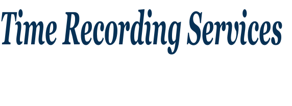 Time Recording Services